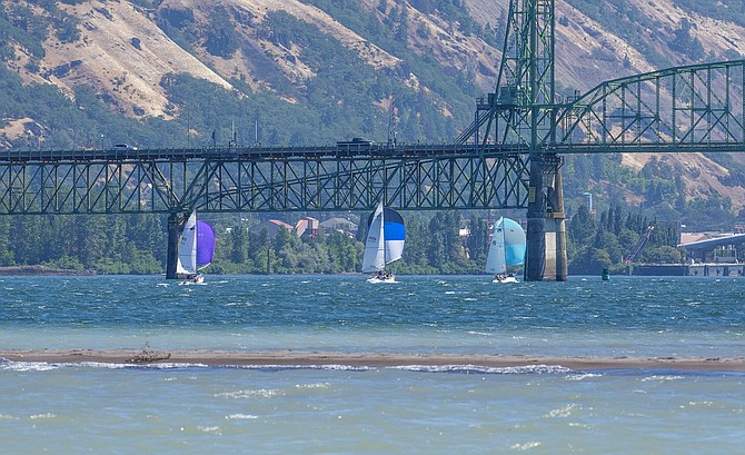 Double Damned is one of the few downwind sailboat racing competitions in the country and is known for its high winds worldwide.