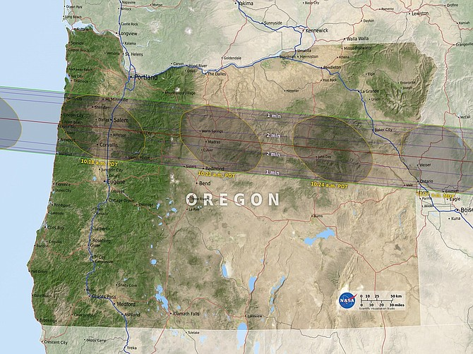 Path of totality for the August 21, 2017 eclipse