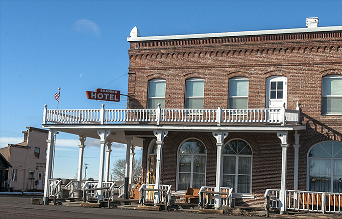 The Shaniko Hotel Which Is Now Closed No Longer Houses Visitors To