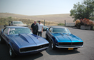 The father and son duo of Randy and Bailey Keever of The Dalles, pictured above with their race cars, will be among those competing in the C.H. Urness Motors/The Dalles NAPA sponsored Dallesport Drags this Sunday.