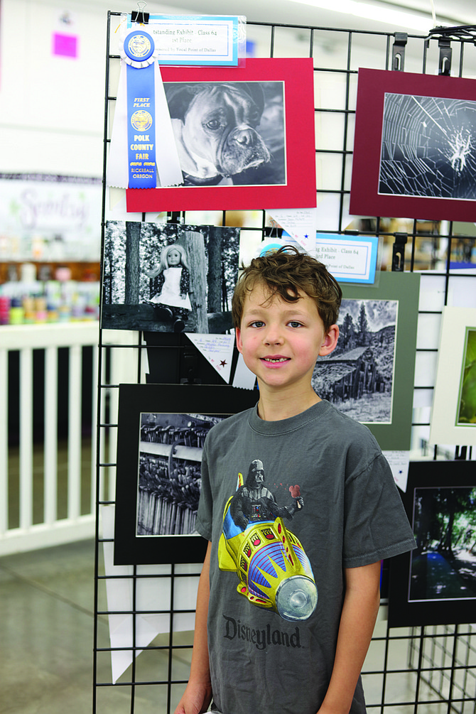 Dash McNett won three ribbons at the Polk County Fair for his photos.