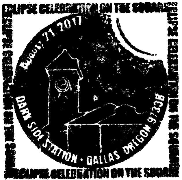 """""""Darkside Station"""" cancellation stamp"""