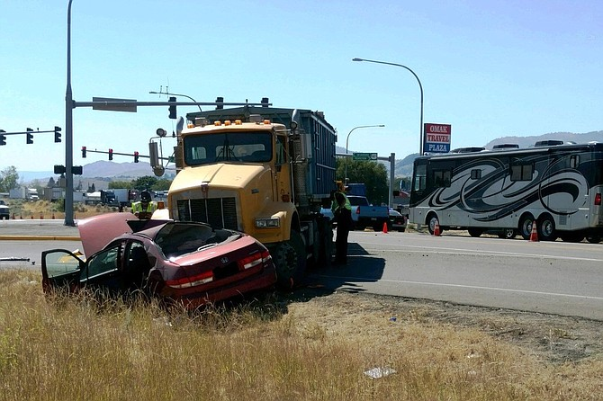 The patrol said the crash's cause is under investigation. Anyone who witnessed the crash is asked to contact the patrol at 509-422-3800.