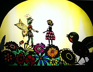 """""""Thumbelina,"""" a production of Oregon Shadow Theater, will show at 4 p.m. and 7 p.m. at Columbia Center for theArts Aug. 25."""