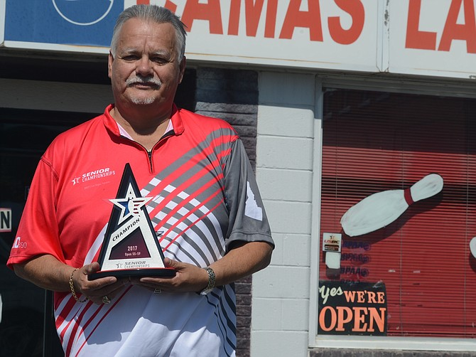 Louie Serrano's great bowling year continued earlier this month in Las Vegas at the USBC Senior Championships, where he took first place in the men's 55-59 division.