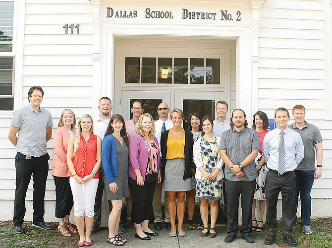 Dallas School District has 17 new teachers starting in the 2017-18 school year. The group includes: Allie McWilliams, districtwide, school psychologist intern; Kelleigh Ratzlaff, Dallas High School, family and consumer studies; Austin Markee, DHS, science; Bethany Givens, Whitworth Elementary School,  special education; Lana Mabry, Lyle Elementary School, special education; Sam Arrant, LaCreole Middle School, math/science; Annee Blevins, DHS, media specialist; Keeton Luther, Whitworth, fifth grade; Devin Hammill, DHS, Spanish; Robert Harriman, Lyle, second grade; Drew Reinhardt, LaCreole, sixth grade math; Jackson Darling, Polk Adolescent Day Treatment Center, classroom teacher; Aaron James, Oakdale Heights Elementary School, special education; Regina Bliven, Oakdale, second grade; Kyle Hormann, Whitworth, fourth grade; Ann Ludwig (not pictured), Oakdale, kindergarten; Katt Korpela, Lyle, primary teacher.