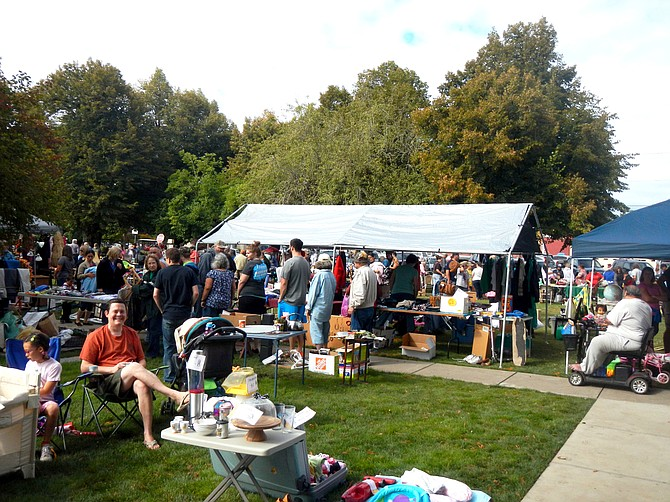 Hundreds of people head to the Monmouth Main Street Park each year to buy and sell goods.