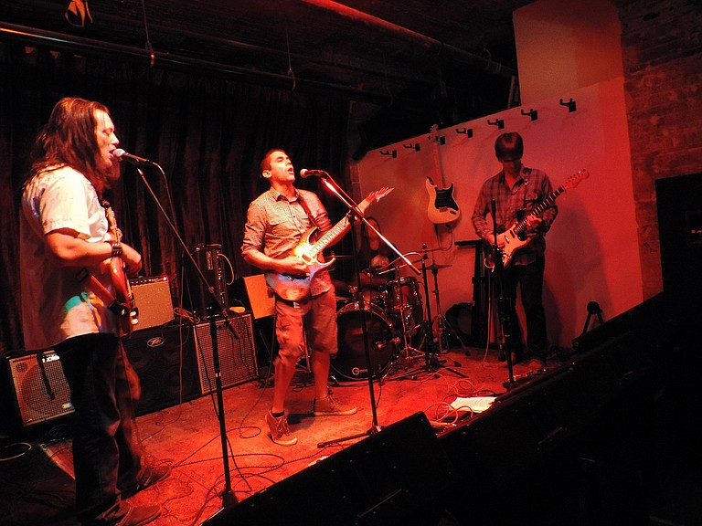 Feed the Dogg performs at Underground Music Station Saturday night.