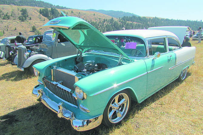 Dick Sweetman showed his 1955 Chevrolet BelAir at the Chesaw event.
