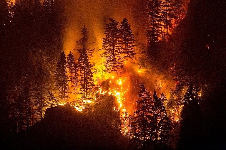 Sunday night, Eagle Creek Fire.