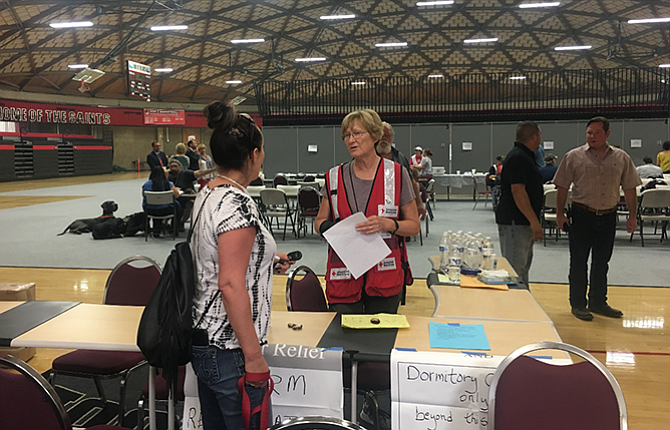 Approximately 24 people displaced by the Eagle Creek fire are at the Red Cross shelter located at Mt. Hood Community College, Yoshida Events Center, in Gresham.