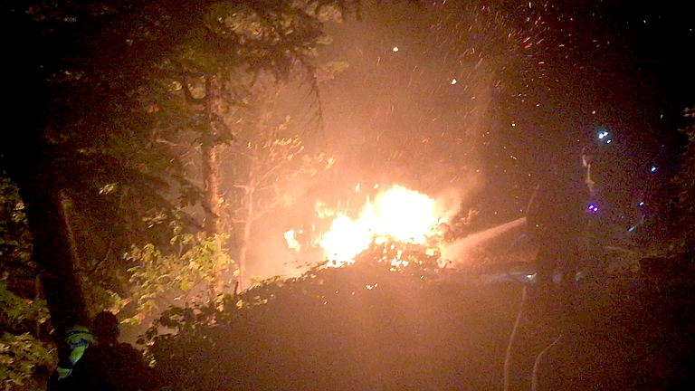 A FIRE that broke out Tuesday night on Indian Creek Trail in Hood River took crews less than an hour to knock out. A caller told police teens had been using fireworks nearby, shortly before flames broke out in trees along the trail.