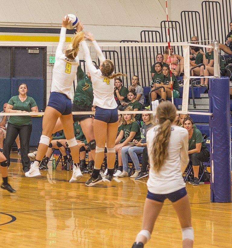 Volleyball has struggled as of late, going 1-3 in their past four games. At home against Pendleton on Tuesday, Katie Kennedy and Emily Curtis (below) were ace leaders with two and one.