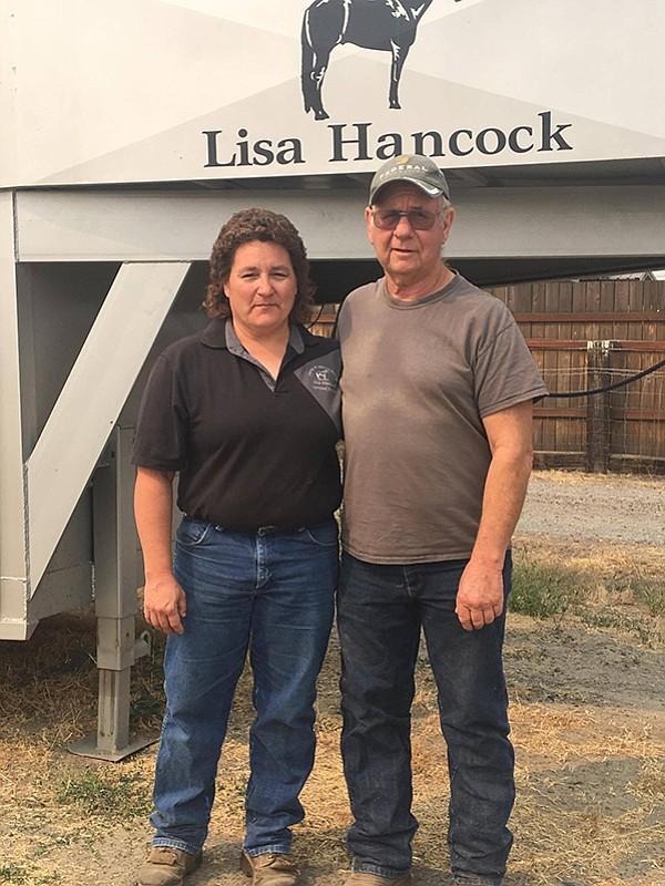 Lisa Hancock and her husband Joe.