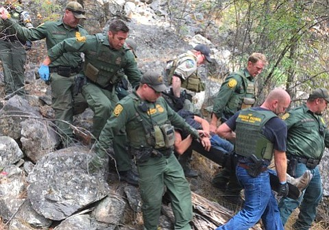 Members of the U.S. Border Patrol assisted with a shooting victim and another person who was attempting to commit suicide on Monday, Sept. 25.