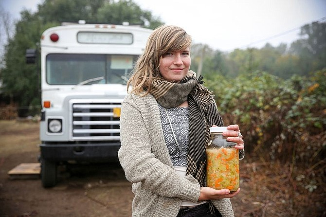"Tara Whitsitt will be at the Hood River Farmers' Market Saturday with her ""Fermentation Bus."""