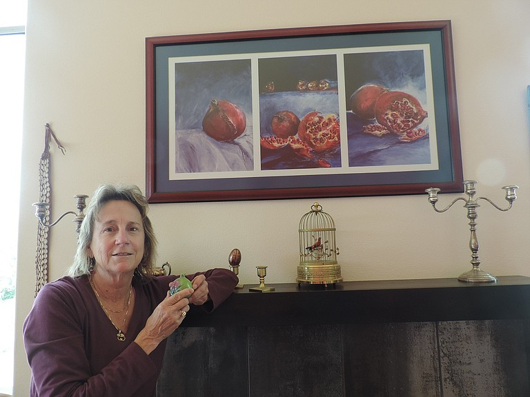 Artist Yvonne Pepin-Wakefield's The Dalles home is filled with her large and miniature images of pomegranates, which she will discuss Oct. 6 at Columbia Center for the Arts.