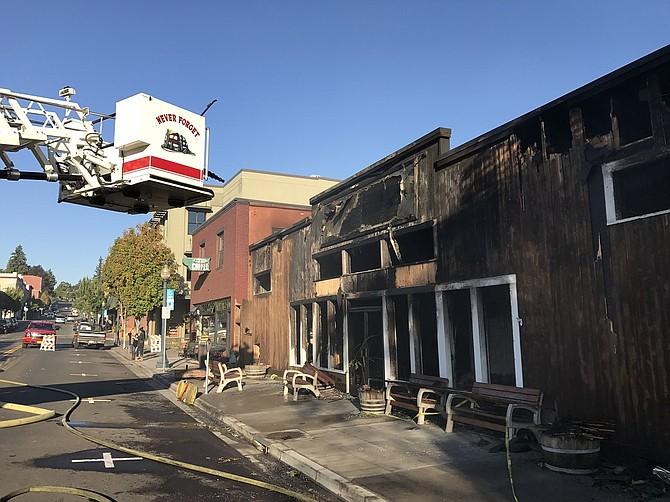 KAYAK SHED, Sept. 28, after last week's destructive fire.