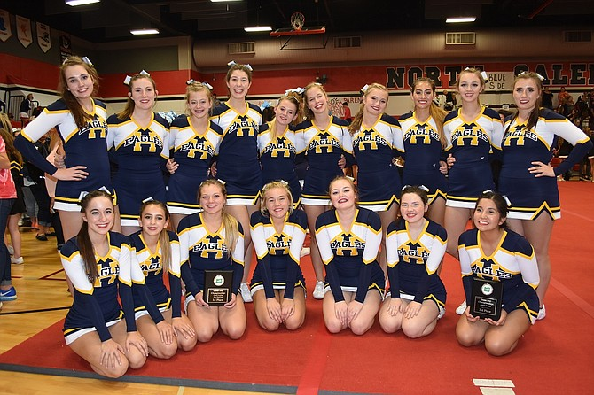 HRV Cheer in the 5A non-tumbling division competed in three competitions: crowd leading, band dance, and fight song, at the OCCA Game Day Championships. The varsity team placed first and third in two of their competitions: crowd leading and band dance.
