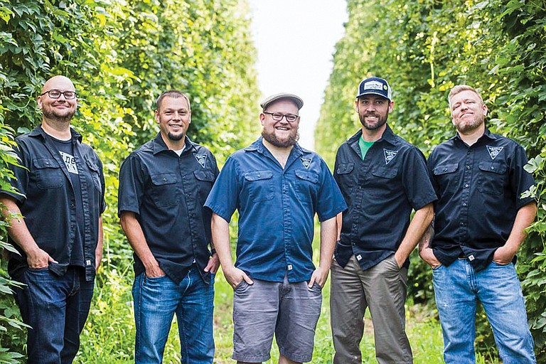 From left, the owners of Varietal Beer Co. are Chris Baum, David Paulson, Chad Roberts, Karl Van Evenhoven and John Cope.
