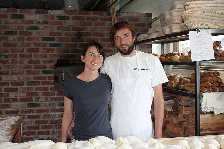 Nina Jimenez and Jure Poberaj of White Salmon Baking Company.