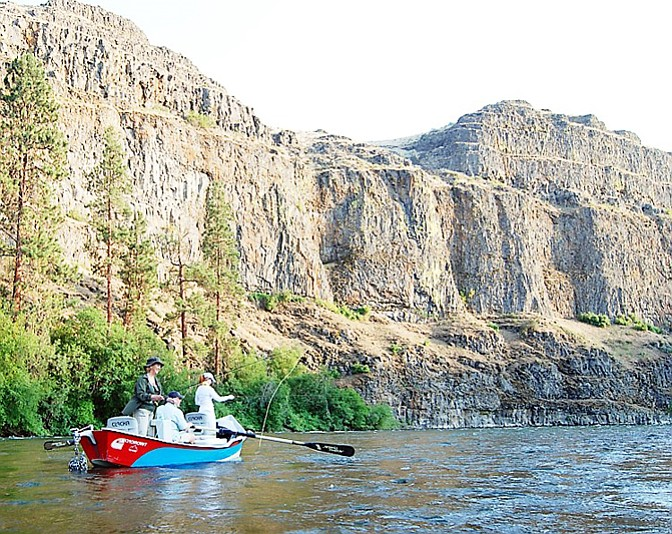 Washington Department of Fish and Wildlife Anglers enjoy a day in the Yakima River Canyon.