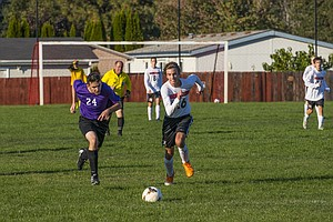 Horizon Soccer (above) Kyle Brown is one of two team captains for the Hawks this year and leads a strong forward attack that scored four goals against the Oregon School for the Deaf on Wednesday, Oct. 4.