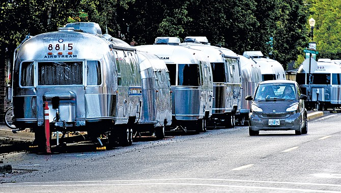 Airstream trailers lined downtown Independence Friday night through Sunday afternoon as part of the Oregon Airstream Club's 22nd rally of the year.