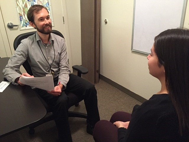 ONE Community Health's Lucas O'Laughlin (left) heads up the behavioral health department.