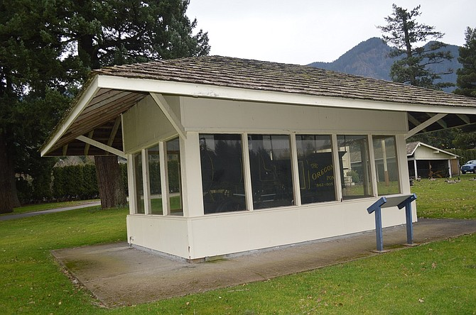 OREGON PONY engine rests in a shelter at the Marine Park. A 10-year plan for the park's future has come into clearer focus.