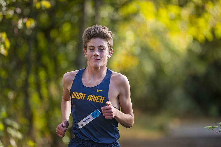 HRV Cross Country at the George Fox XC Classic had seven of their 13 athletes who competed break personal records, including freshman Josh Haynes (above) with his time of 16:29.46.
