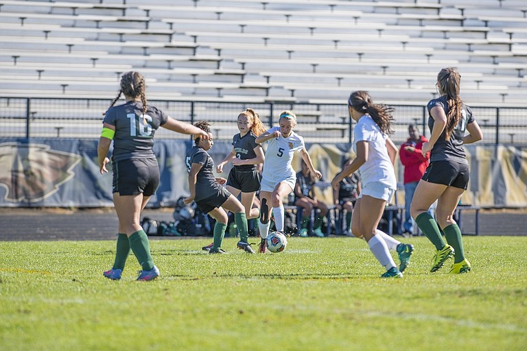 HRV girls soccer has now won three straight game in a row including a 9-0 victory last Saturday against Reynolds. Senior forward Audrey Marble helped lead an aggressive Eagle attack.