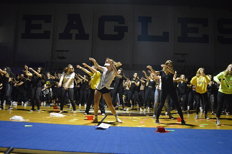 The seniors came in third with a skit about the end of the world — a theme mirrored in their first place homecoming hallway decorating win.