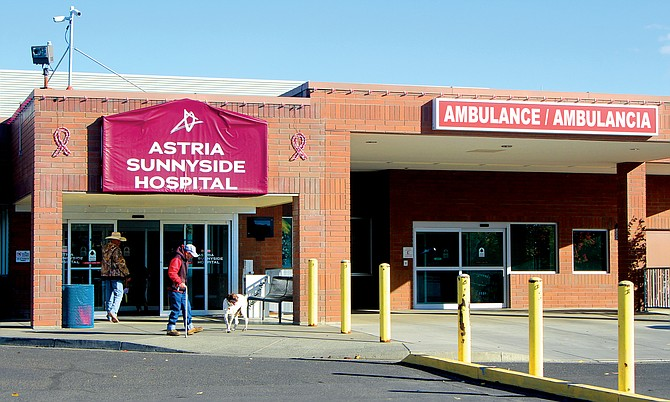 New banners and signs were installed Tuesday night at the Sunnyside hospital and its clinics.