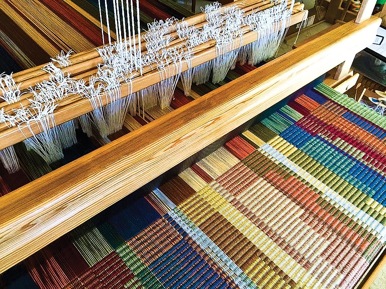 """This """"Rug on loom"""" is just one of the items to be featured at the Desert Fiber Arts Guild's Fiber Arts Sale Oct. 27-28 and Nov. 3-4 at Studio, 101 N. Union Street in Kennewick."""