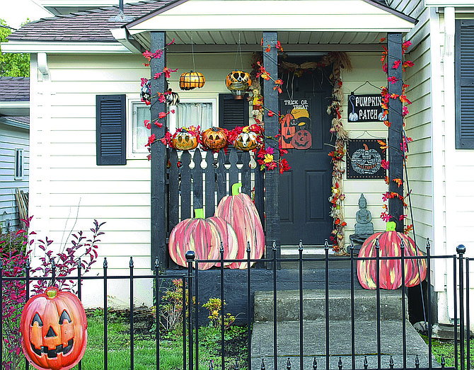 A Dallas home near Lyle and Maple streets is in the Halloween spirit.