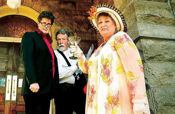Doug Graven, left, Mark Sturtevant and Carol Chaney all portray characters.