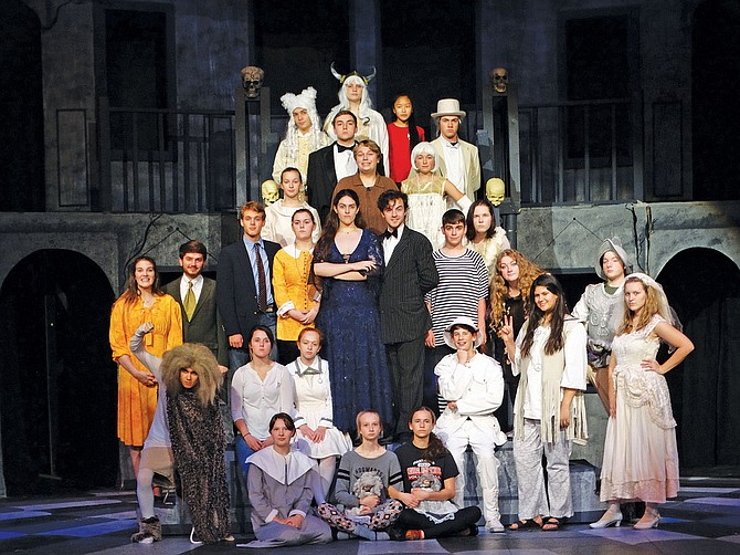 """The cast of Central's production of """"The Addams Family."""" CHSwill feature the show for two weeks, with opening night on Thursday and continuing through Saturday. The play runs the next week Nov. 1-4."""