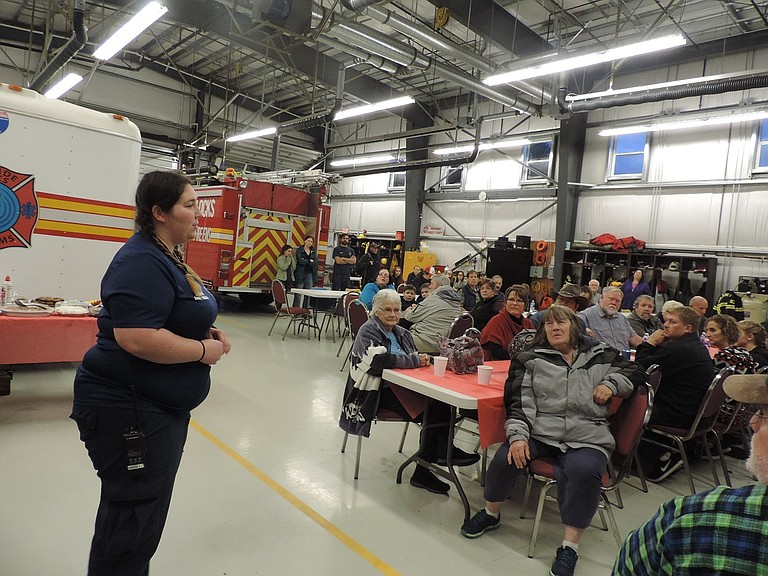 """It's been amazing, you guys are one of the best communities for supporting us and the fire department when we really need it and we really appreciate it,"" Chief Jessica Bennett tells the community members gathered at the fire hall Sunday night."