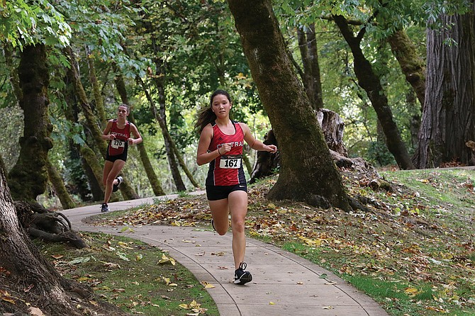Central junior Diana Nye races at Dallas City Park on Oct. 18.