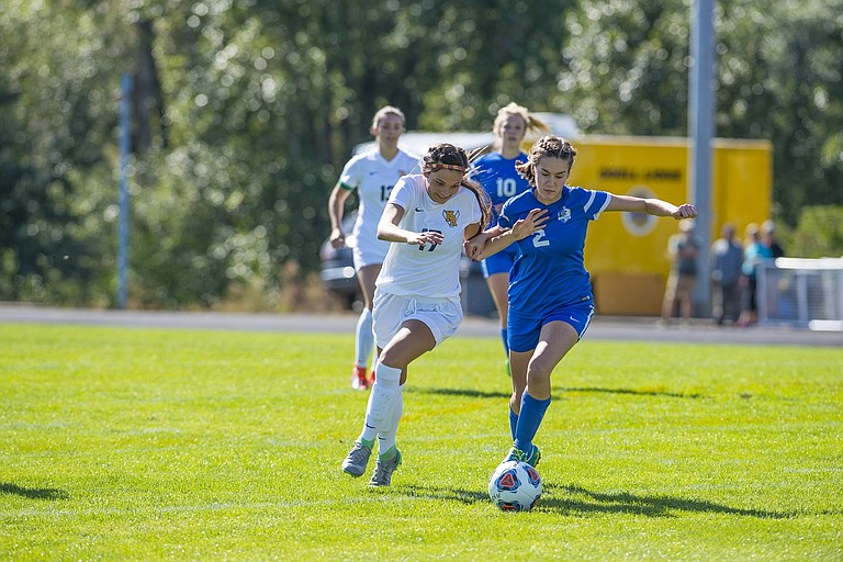 HRV Girls Soccer forward Nina Casey had a big day against The Dalles on Tuesday scoring one goal and assisting on two. She also forced an own goal off a corner that would cap off a 6-0 victory for the HRV girls soccer team.