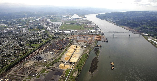 PORT OF LONGVIEW, seen in a file photo. A judge said Washington Department of Natural Resources acted arbitrarily when it blocked a sublease sought by developers of a proposed coal-export terminal along the Columbia River. The decision followed a series of setbacks for the project.
