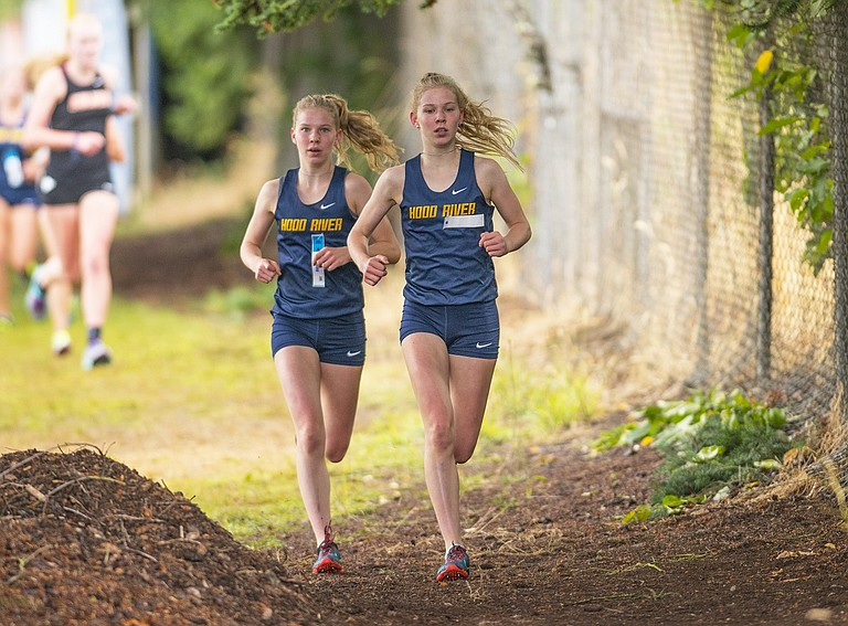 HRV cross country ends the regular season as district champions. Frances Dickinson finished in second place at the CRC meet only behind Josephine Dickinson (right), who finished first.