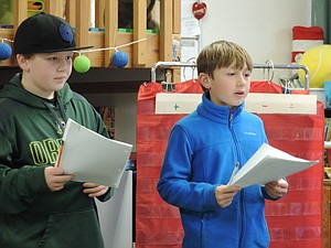 MAY Street student leaders Cashus Logan and Ethan Sheppard listen to students discuss what they'd like to see in a new Children's Park. In May, the city removed about a third of the structure for safety reasons. The structure will be removed and replaced sometime in early spring 2018.