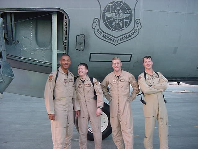 AIR FORCE veteran Doug Grissom, M.D, second from right, with fellow Airmen. Find his story at the Hood River News.