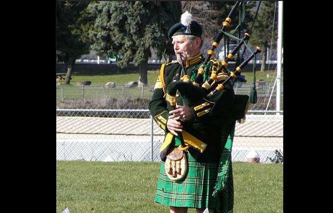 """Bagpiper Rory O'Halloran, who lives in The Dalles, will help welcome guests to the Granada Theater's grand opening event on Friday with a ceremonial """"bagpipe march."""" Contributed photo"""