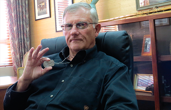Roger Howe has worn his dog tags from a 1968-70 deployment to Vietnam for 50 years in remembrance of the lives lost during his 13 months at war.