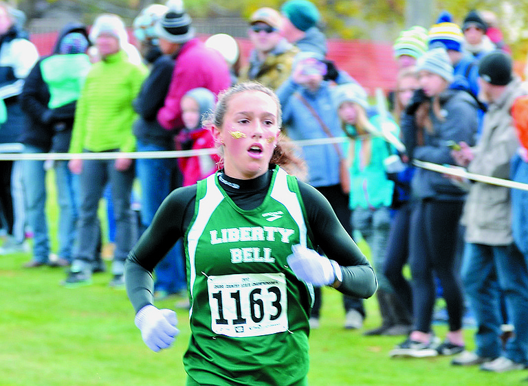 Sophomore Gretta Scholz of Liberty Bell was the second girl to finish on the state-champion Mountain Lions' girls' team. Scholz also was named the No. 2 girls' runner in the Central Washington League.