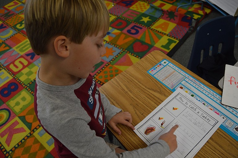 How to Catch a Turkey: May Street first grader Sawyer Stillwell goes over his plan.