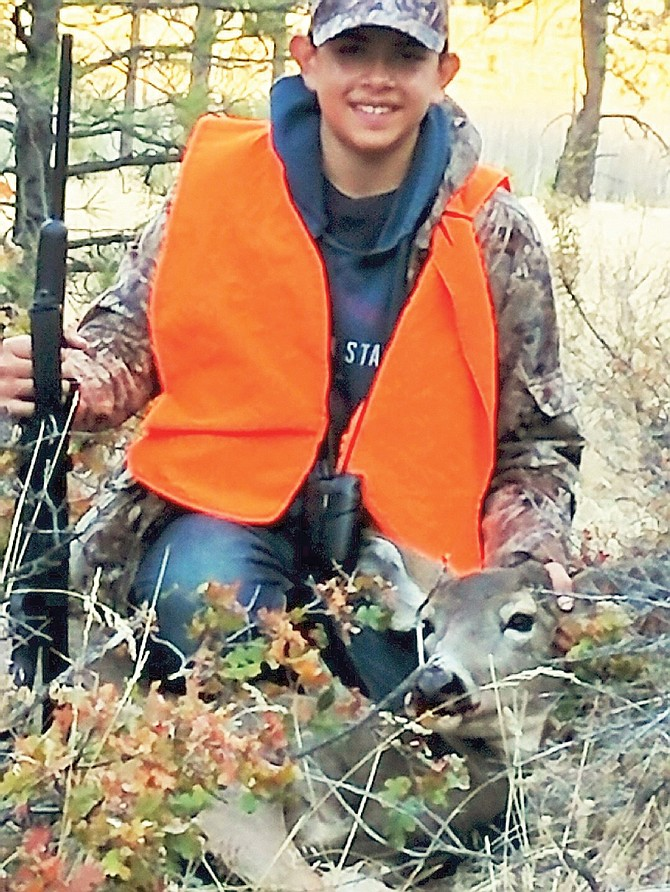 Eddy Almaguer Jr., 14, formerly of Sunnyside, drew a doe tag this season and bagged this beauty on a recent hunting trip. Almaguer recently move to Yakima.